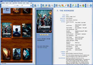 Movie Organizer - virtual shelf view
